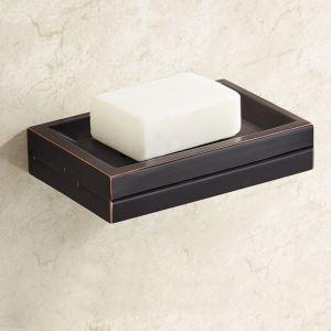 Boîte à savon en laiton noir ORB accessoire pour salle de bains