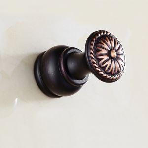 Patère de style européen en cuivre antique noir ORB pour salle de bains