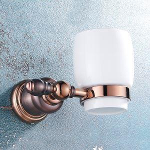 Porte-gobelet en cuivre de style européen pour salle de bains