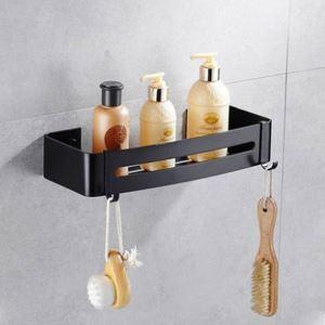 Étagère de salle de bain noire L 32.5 cm style européen