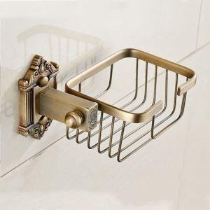 Porte-papier de bains en cuivre rétro L21cm style européen