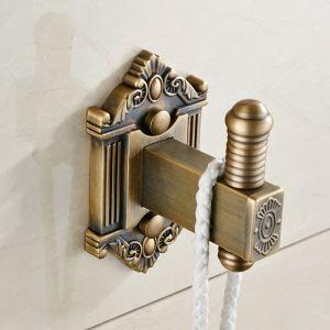 Patère en cuivre antique 1 crochet pour salle de bains A / B
