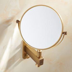 Miroir domestique en cuivre miroir de maquillage or rétro
