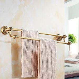 Barre porte-serviette en cuivre antique de style européen pour salle de bains