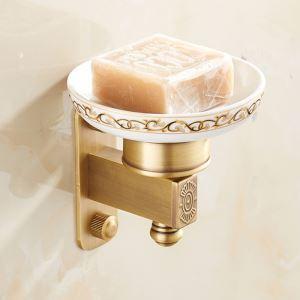 Porte-savon en laiton céramique accessoire pour salle de bains