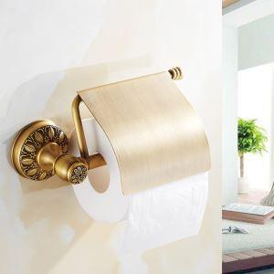 Porte-papier toilettes en cuivre or rétro pour salle de bains