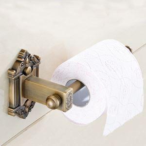 Porte-papier toilettes en cuivre de style européen accessoire rétro de bains