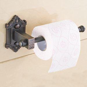 Porte-papier toilettes en cuivre antique imprimé noir ORB pour salle de bains