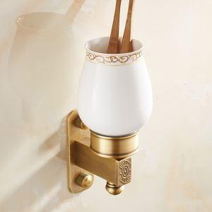 Tasse brosse à dents en céramique Porte brosse à dents rétro européen