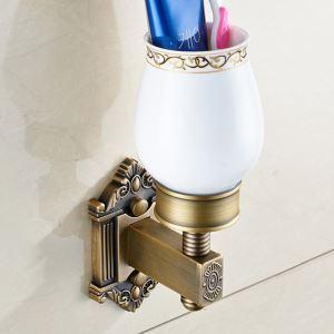 Porte-brosse à dents en cuivre rétro accessoires de salle de bain