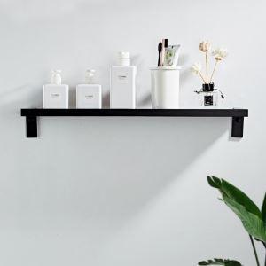 Étagère moderne en aluminium couleur noire pour salle de bains