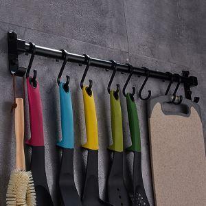 Crochet noir moderne en aluminium pour cuisine