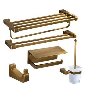 Ensemble de bain rétro en cuivre de style européen pour salle de bains