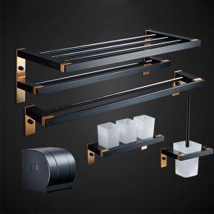 Ensemble de porte-serviettes moderne simple en aluminium pour salle de bains