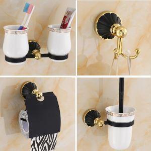 Ensembles de bain en or noir kit d'accessoires pour salle de bains