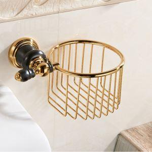 Porte-papiers en cuivre massif L 21 cm pour salle de bains