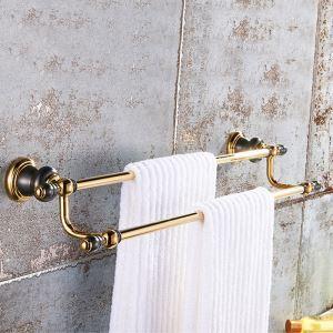 Porte-serviettes rétro en laiton massif or rose finition ORB