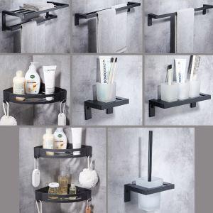 Ensemble de salle de bain en aluminium étagères porte-serviette