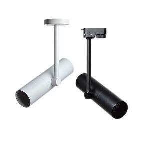 Projecteurs spotlight moderne rotatif à 360° plafonnier noir/blanc