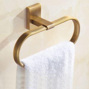 Anneau-serviette en cuivre vintage or pour salle de bains