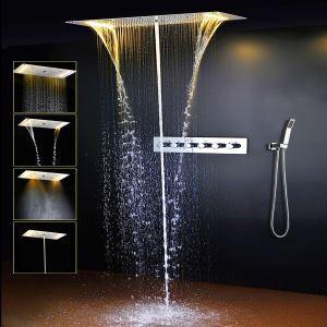 Colonne de douche thermostatique à LED blanc chaud pour salle de bains