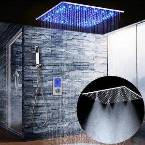Colonne de douche encastrée thermostatique LED tricolore pour salle de bains