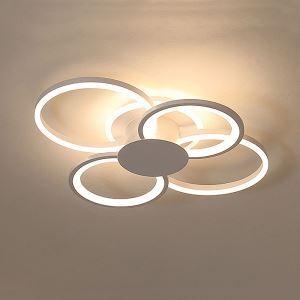 Plafonnier blanc moderne LED en acrylique pour salon salle d'étude