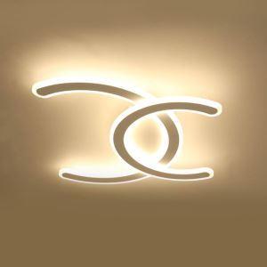 Plafonnier moderne à LED design en forme C pour salon chambre