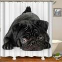 Rideau de douche impression 3D 4 modèles chien mignon pour salle de bain imperméable anti-moisissure