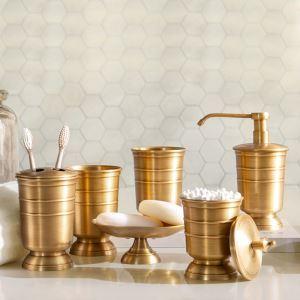 Kit salle de bain en cuivre style américain articles de toilette