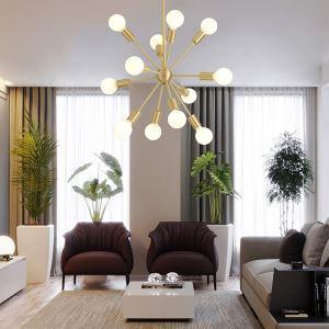 Lustre moderne corps de lampe en cuivre massif pour salon chambre à coucher
