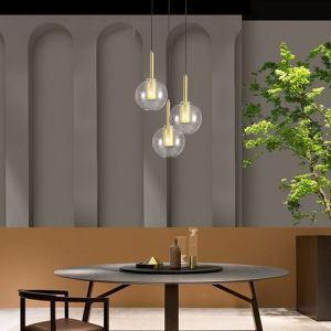 Suspension moderne en verre pour salon salle à manger,ampoule incluse