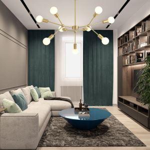 Lustre moderne en métal pour salon chambre à coucher, 9/12 lampes