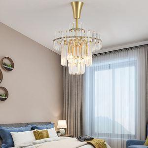 Lustre en cristal de luxe pour salon chambre à 3/8 lampes