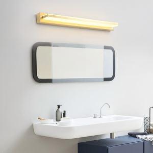Applique murale LED miroir en métal acrylique pour salon salle de bains