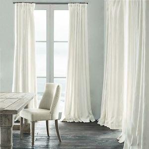 Rideau occultant blanc pour chambre à coucher simple moderne