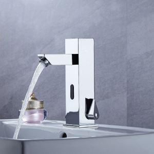 Robinet de lavabo intelligent sans contact à capteur infrarouge pour salle de bains