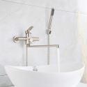 Robinet de baignoire moderne en acier inox brossé pour salle de bains