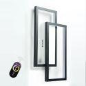 Plafonnier LED en acrylique deux rectangles simple pour salon chambre
