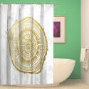 Rideau de douche impression motif géométrique pour salle de bain imperméable anti-moisissure
