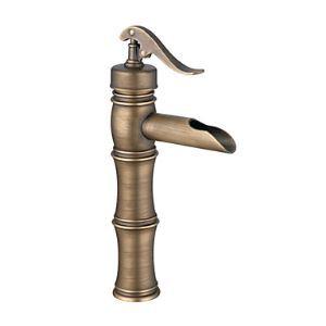 (Entrepôt UE) Laiton Antique Centerset robinet lavabo