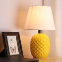 Lampe de chevet chic en céramique abat-jour en tissu pour salon chambre à coucher