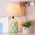 Lampe à poser en céramique tissu H41cm pour salon chambre à coucher