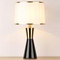 Lampe de table noire en céramique fer D33cm pour salon chambre à coucher