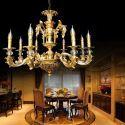 Lustre en cristal baroque or luxe pour salon chambre hôtel, style européen