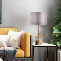 Lampe de table moderne en marbre et fer H65cm pour salon chambre à coucher