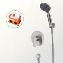 Colonne de douche encastrée avec douchette D 12 cm en acier inoxydable 304 brossé pour salle de bains