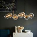 Suspension moderne en Verre à 8 lampes pour salon salle à manger