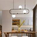 Suspension noire design moderne à 3/4 lampes pour salon salle à manger