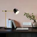 Lampe à poser noire moderne en fer H52cm pour salon salle d'étude
